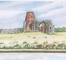 Benets Abbey. by Jorja