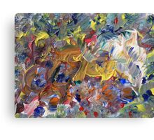 Flowers painting. Colorful Mess Canvas Print