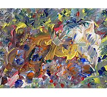 Flowers painting. Colorful Mess Photographic Print
