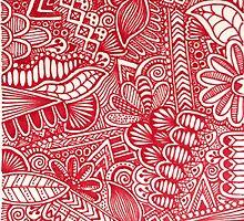 Zentangle 3- Red by joannaliu17