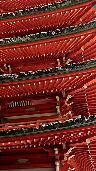Pagoda Detail, San Francisco, California by Scott Johnson