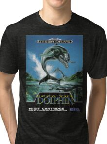 Ecco the Dolphin Mega Drive Cover Tri-blend T-Shirt