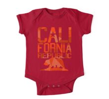 California Republic Bear (spicy red version) One Piece - Short Sleeve