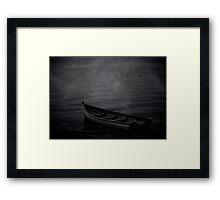 The Haunted Rowboat Framed Print