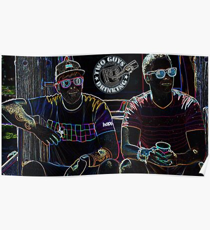 Two Guys in Crazy Neon Poster
