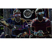 Two Guys in Crazy Neon Photographic Print