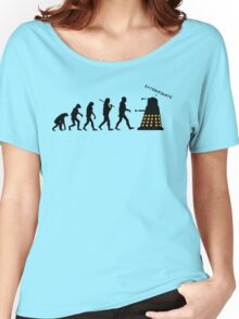 "Doctor Who Evolution - Dalek ""EXTERMINATE"" Women's Relaxed Fit T-Shirt"