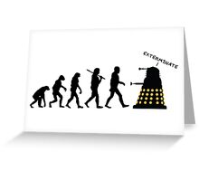 "Doctor Who Evolution - Dalek ""EXTERMINATE"" Greeting Card"