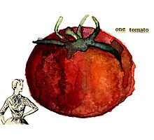 One Tomato Photographic Print