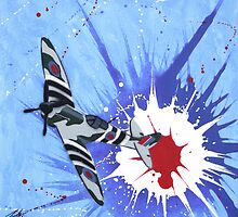 Spitfire Splat 01 Painting by Richard Yeomans