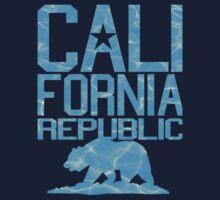 California Republic Bear (clear ocean version) Kids Tee