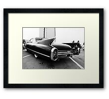 Fins, Chrome and Suede Black Paint Framed Print