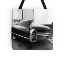 Fins, Chrome and Suede Black Paint Tote Bag