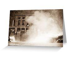 Kanawha Falls Vintage Landmark Greeting Card