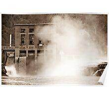 Kanawha Falls Vintage Landmark Poster