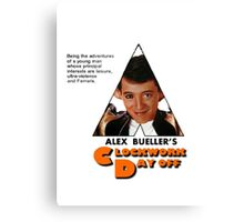 Alex Bueller's Clockwork Day Off Canvas Print