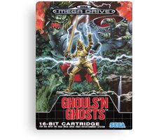 Ghouls n' Ghosts Mega Drive Cover Canvas Print