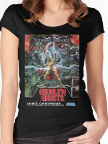 Ghouls n' Ghosts Mega Drive Cover Women's Fitted Scoop T-Shirt