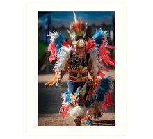 Chumash native American teen dancing Art Print
