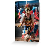 Chumash native American teen dancing Greeting Card