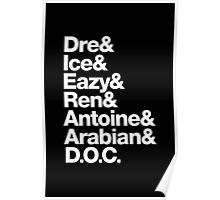 N.W.A Eazy-E Dr. Dre Ice Cube Helvetica Gear Poster