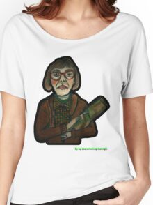 MY LOG SAW SOMETHING THAT NIGHT - from 'The Peaks' range Women's Relaxed Fit T-Shirt