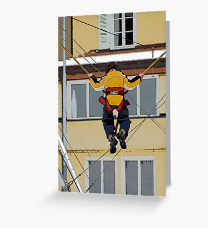 Going up in the world... Greeting Card