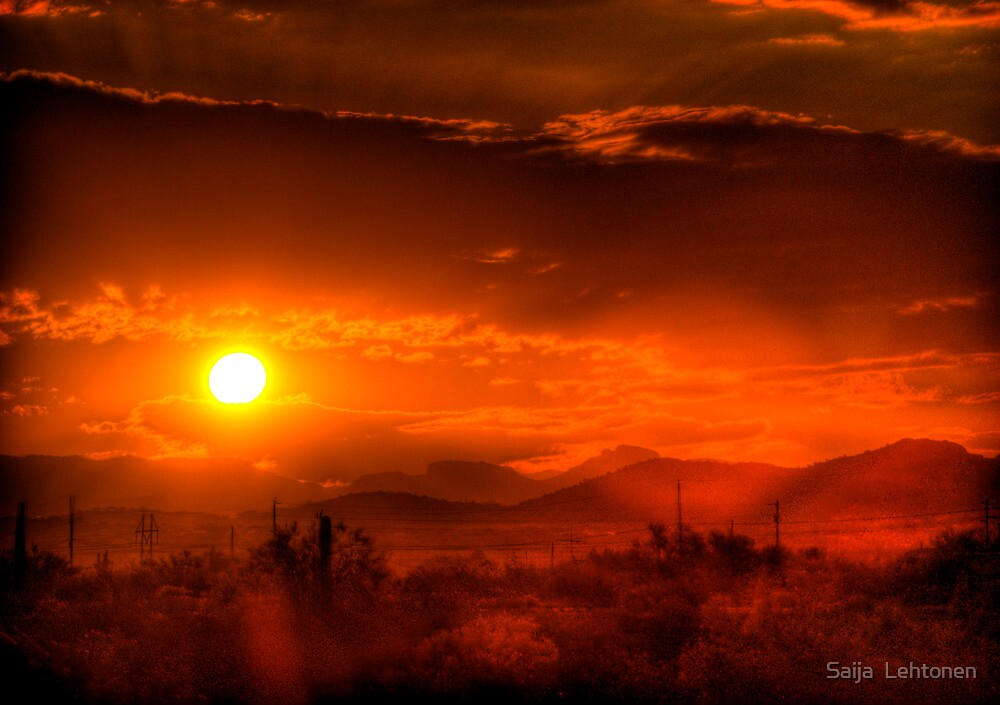 RED Sunrise  by Saija  Lehtonen