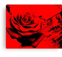 Rose red.......... did it leave my soul to bleed Canvas Print