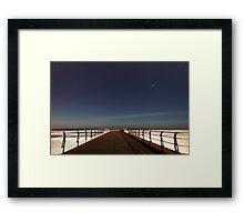 Saltburn Startrails Framed Print