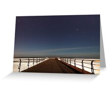 Saltburn Startrails Greeting Card