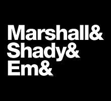 Eminem Marshall Mathers Slim Shady Helvetica Gear by juk3box