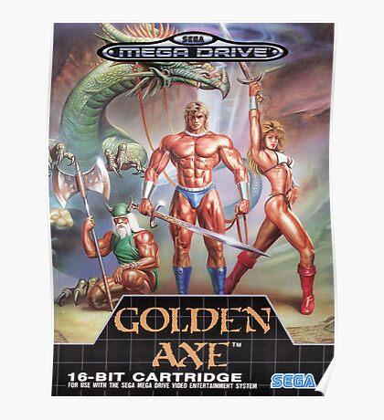 Golden Axe Mega Drive Cover Poster