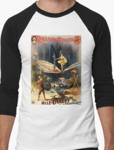 Poster 1890s Rossow Midgets Mlle Chalet the bounding queen performance poster 1897 Men's Baseball ¾ T-Shirt