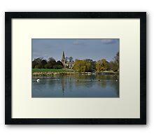 Scenic Village Framed Print