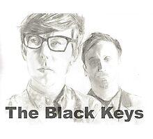 The Black Keys pencil drawing Photographic Print