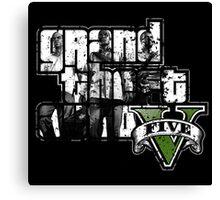 Grand Theft Auto V By Shoro Canvas Print