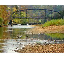War Eagle Mill River in Fall, N.W. Arkansas Photographic Print