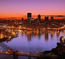 Sunrise Over the Steel City by Christopher Jamison