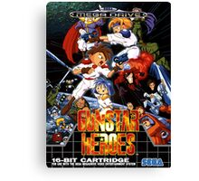 Gunstar Heroes Mega Drive Cover Canvas Print