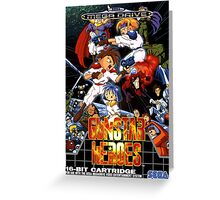 Gunstar Heroes Mega Drive Cover Greeting Card