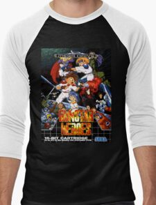 Gunstar Heroes Mega Drive Cover Men's Baseball ¾ T-Shirt