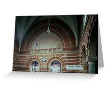 Brickwork Railway Station Copenhagen Denmark 198406250001  Ektachrome Elite 400 Greeting Card