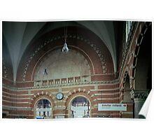 Brickwork Railway Station Copenhagen Denmark 19840625 0001  Ektachrome Elite 400 Poster