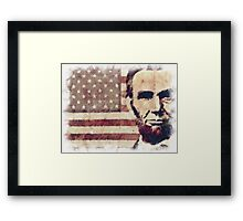 Patriot President Abraham Lincoln Framed Print