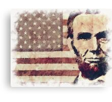 Patriot President Abraham Lincoln Canvas Print