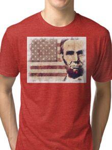 Patriot President Abraham Lincoln Tri-blend T-Shirt