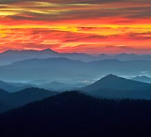 Ablaze - Blue Ridge Parkway Sunrise by Dave Allen