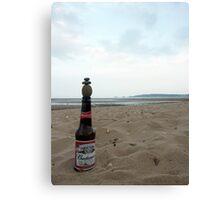 Budweiser Beer Bottle Top Balance Canvas Print
