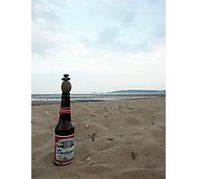 Budweiser Beer Bottle Top Balance Photographic Print